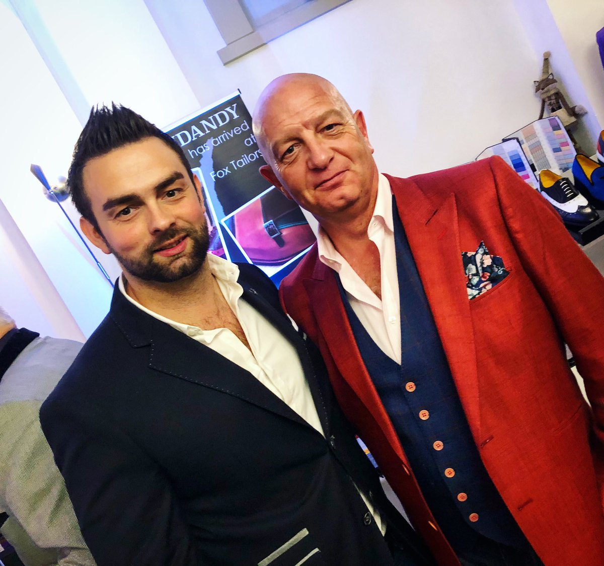 Father & son at @FoxTailoring men's style event. #bespokejacket #bespokewaistcoat pic.twitter.com/kaHv5de2tR
