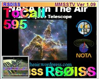 This morning, #SSTV #ISS on 145 800 Mhz #ARISS #amsat #VHF Tweet