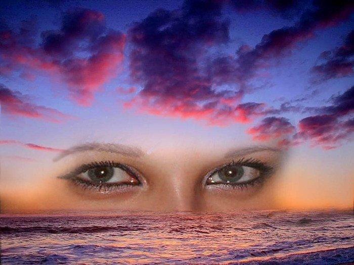 День, картинки с красивыми глазами на фоне небес