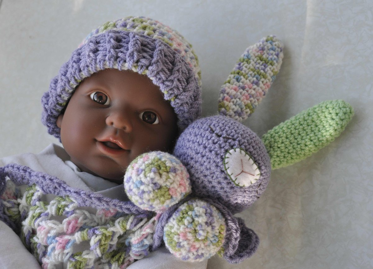 Doudou lapin peluche pour dormir amigurumi fait main au crochet ... | 866x1200