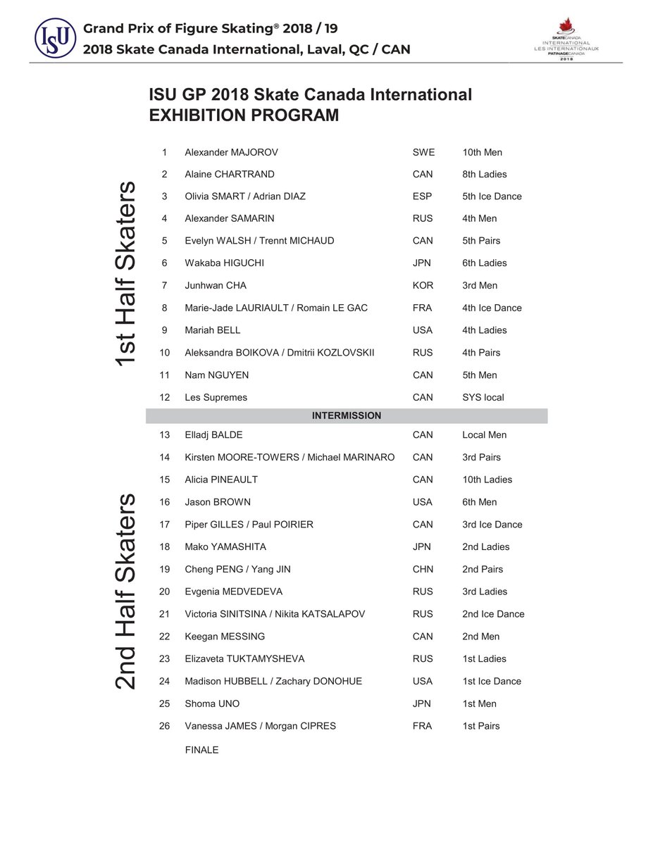 GP - 2 этап. Oct 26 - Oct 28 2018, Skate Canada, Laval, QC /CAN - Страница 47 DqlnlpDXQAEK6ET
