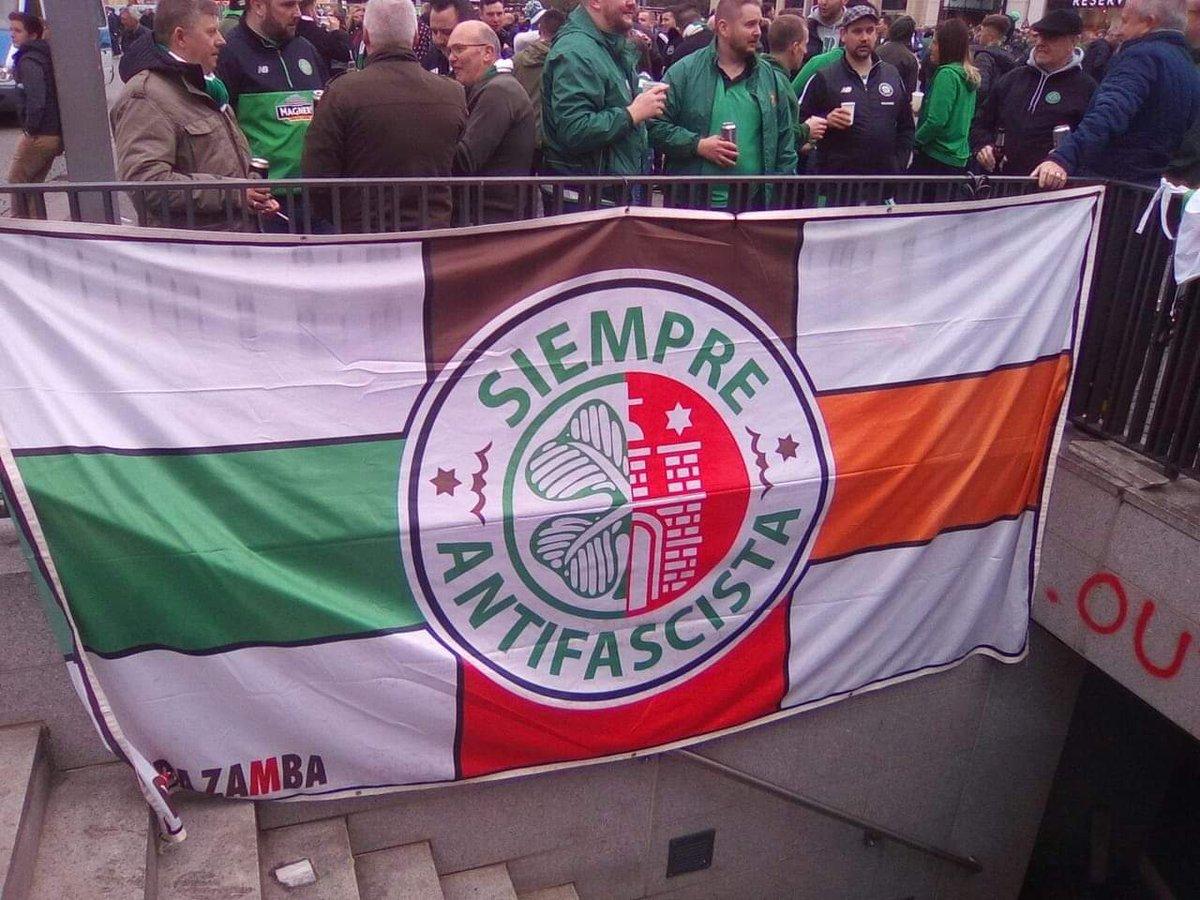 "Antifa_Ultras on Twitter: ""PHOTO | Brotherhood banner between Celtic FC and FC St. Pauli in Leipzig (23.10.2018)… """