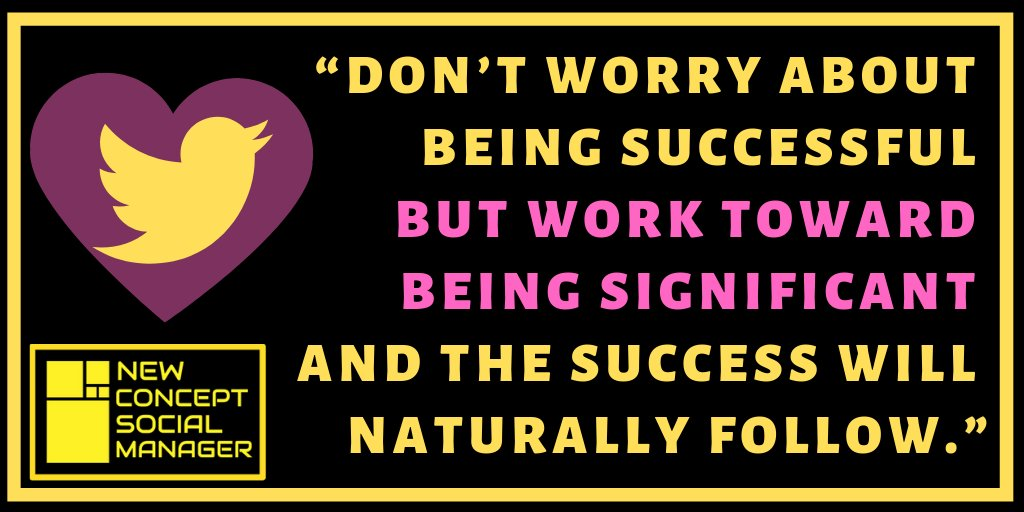DON'T WORRY ABOUT BEING SUCCESSFUL  💛 BEING SIGNIFICANT  AND THE SUCCESS WILL  FOLLOW💛 @Factz_Guide  💙💙💙💙 http://bit.ly/fbfv1  💙💙💙💙  #newconceptsocialmanager #NSCM #success  #Socialimpact #socialmediamarketing #SEO #femaleartist  #WomanLikeMeChallenge