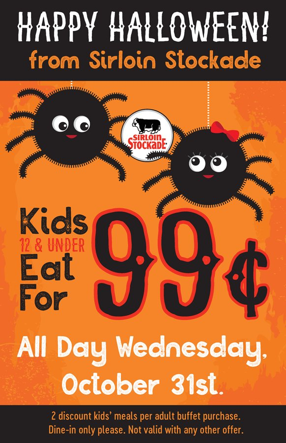 Enjoy A 99 Cent Kids Meal Get Two Discount Meals With Each Adult Buffet Purchase When You Dine In Available All Day On Wednesday 10 31