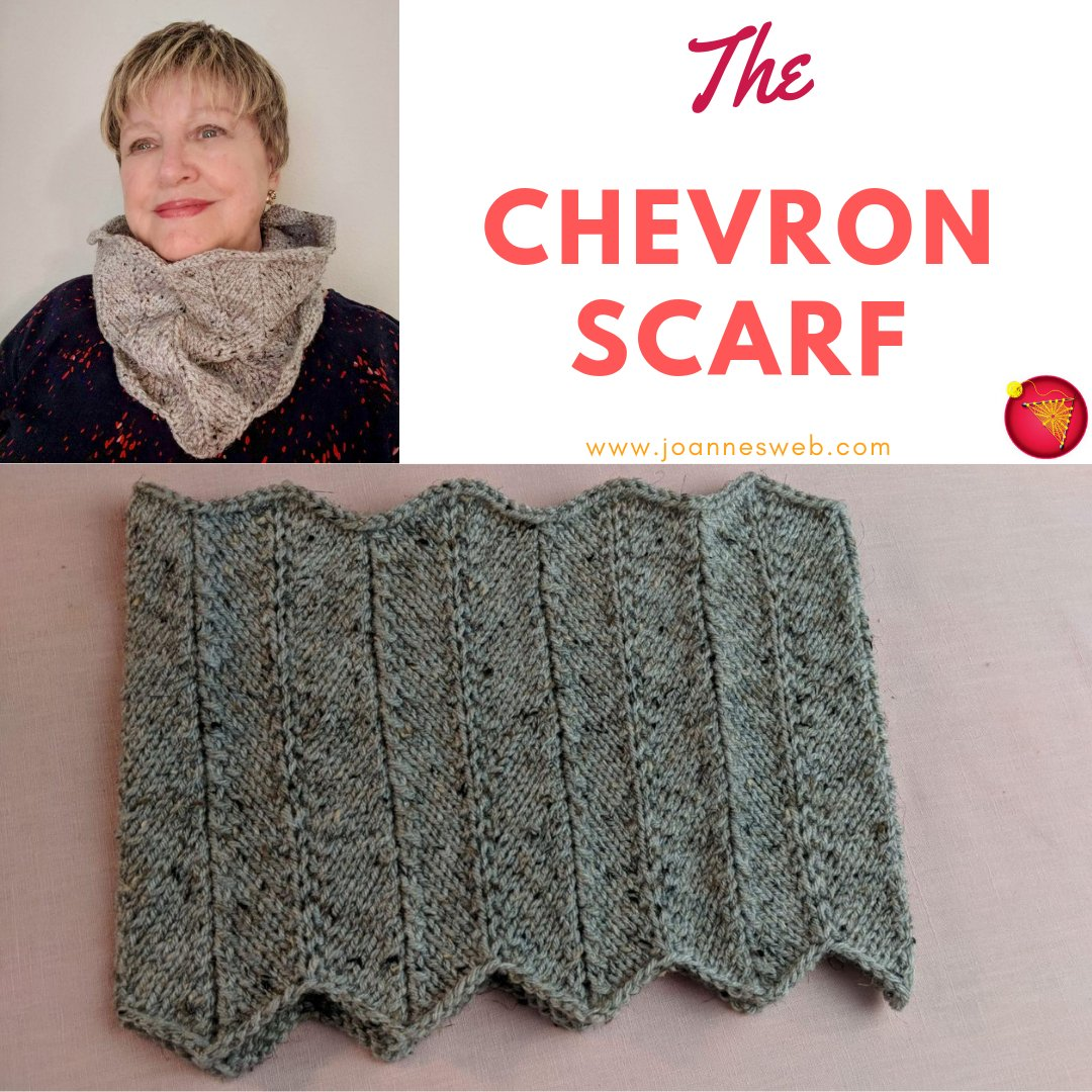 Joanne On Twitter The Knitted Chevron Infinity Scarf Video