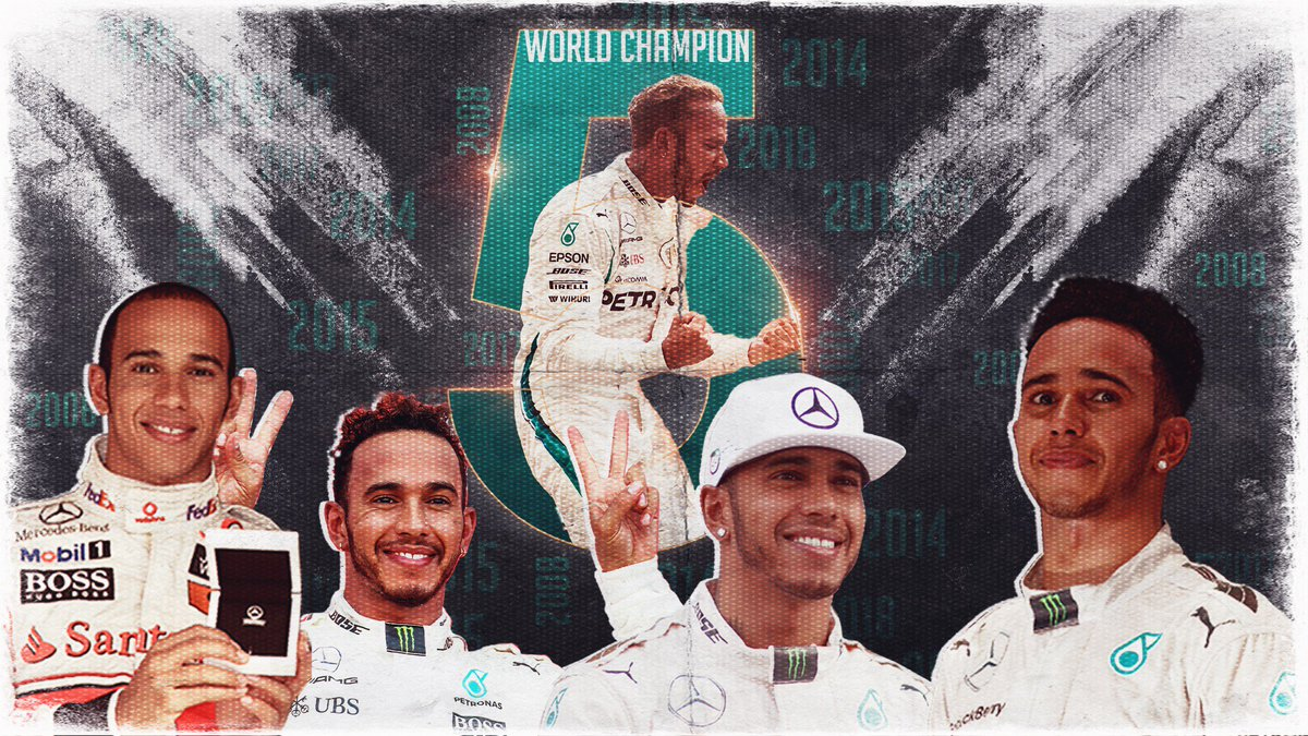 🏆🏆🏆🏆🏆  @LewisHamilton is a FIVE-time world champion!  #F1 #MexicoGP