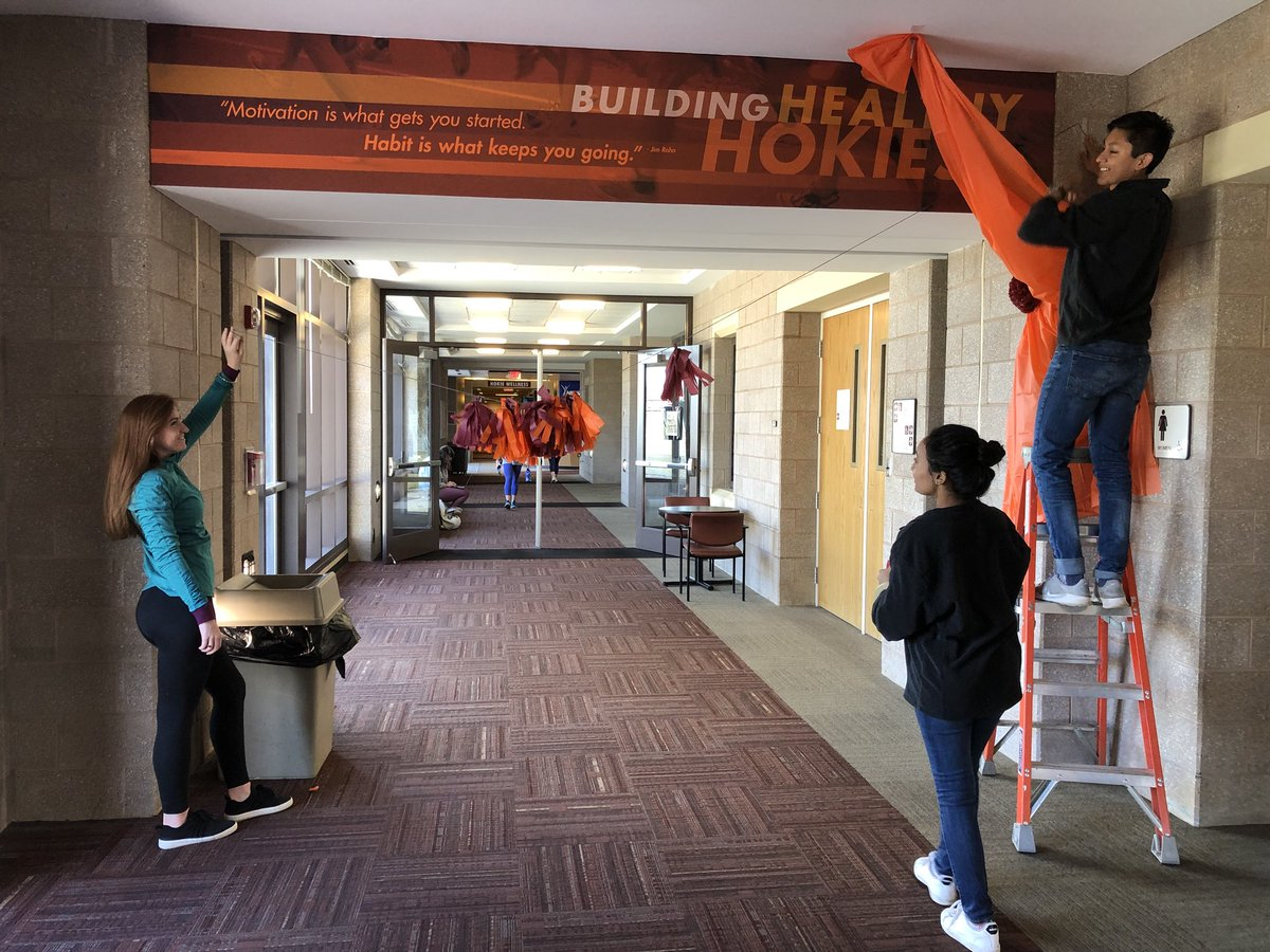 . Virginia Tech Homecoming on Twitter   Decorating for