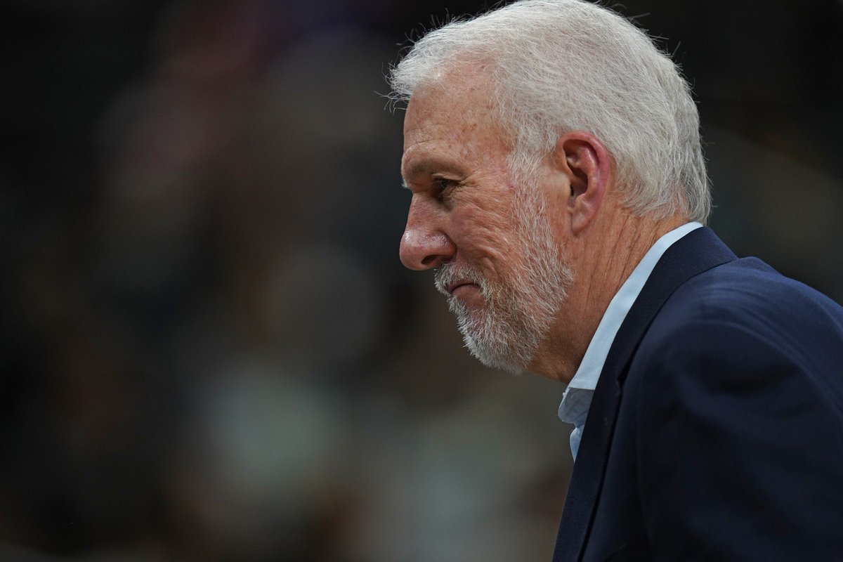 Gregg Popovich is the first coach in NBA history to reach 1,200 career wins with one team. #GoSpursGo