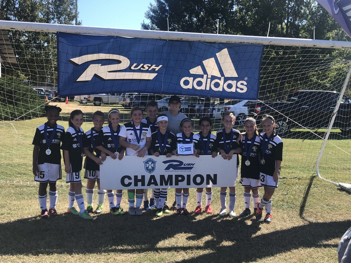 AFC 08 girls are champions at Cross Roads with a 4-1 win over Hattiesburg in the final, Congrats to coach Sara and team⚽️💛! #champs #GoAFC