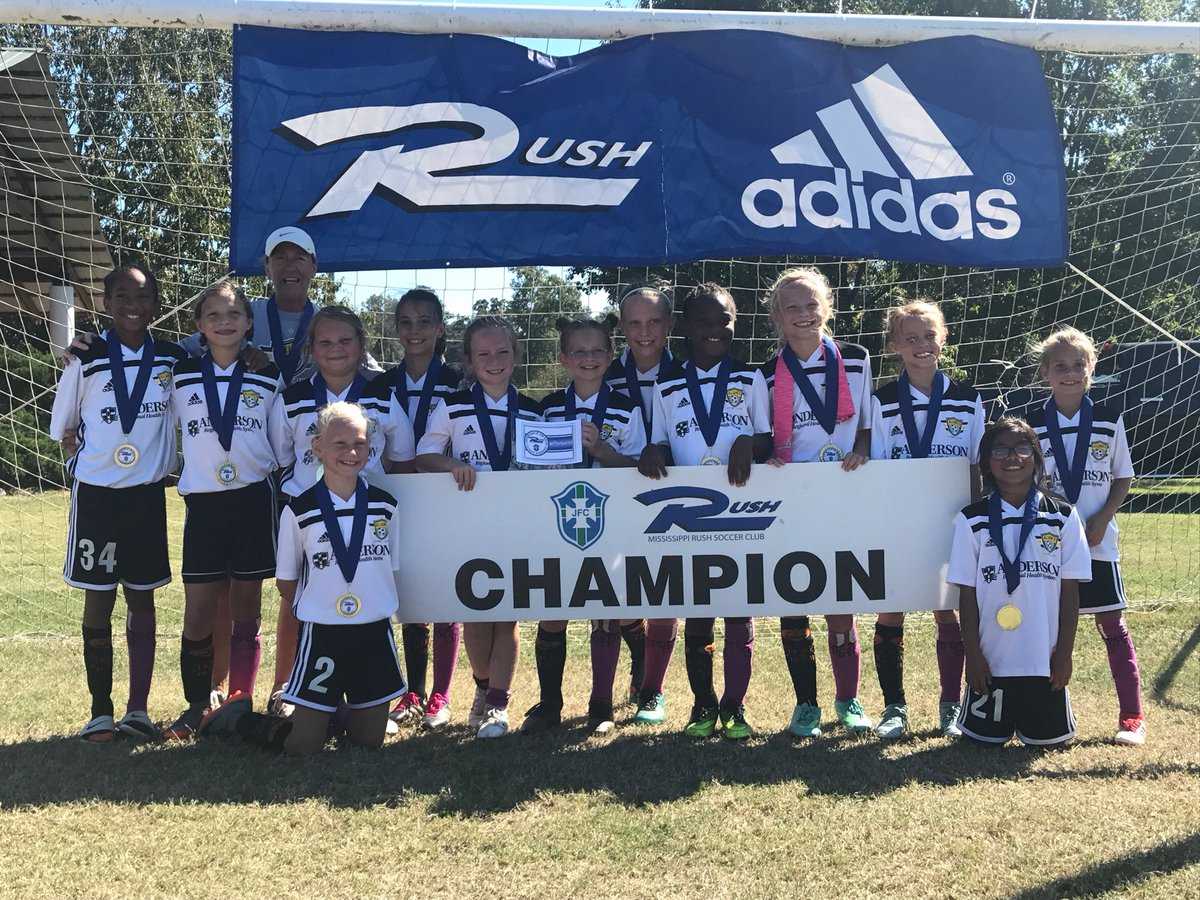 09 girls win 3-0 over Brilla Clinton in the final at Cross Roads! This is the teams 13th consecutive tournament win. Amazing job by these ladies and coach Sonja💛⚽️ #Lucky13 #HalloweenSocks #GoAFC