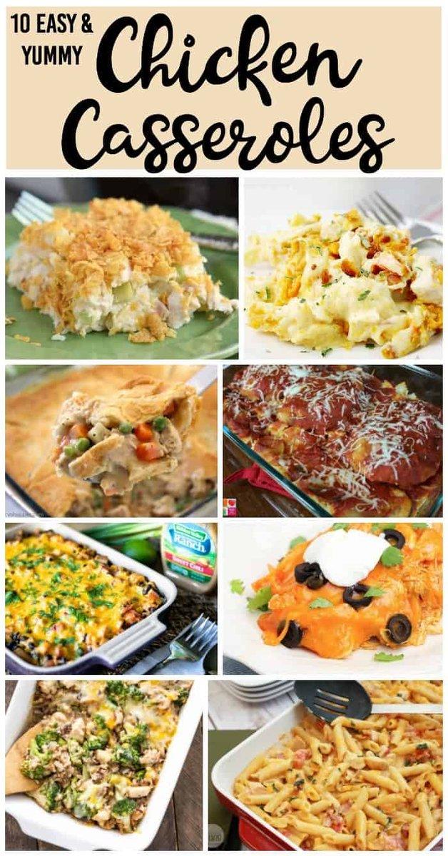 My Favorite Easy Chicken Casserole Recipes https://t.co/wAcIUnrMGv #Dinner #Casserole #Chicken https://t.co/pWU8dhHznS