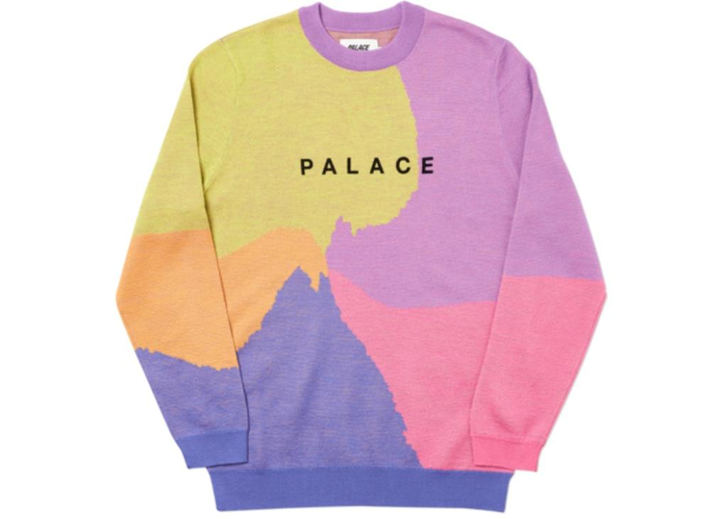 6f344690 The latest knit sweaters from Palace are a crazy blend of colors you're  sure to love. Shop here: https://stockx.com/palace-whirl-knit-navy-pink-purple  … ...