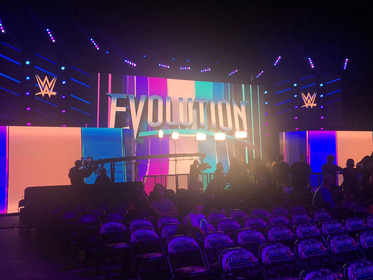 What a lineup! #Evolution followed by the House Hardy Halloween Special tonight on the @WWENETWORK!