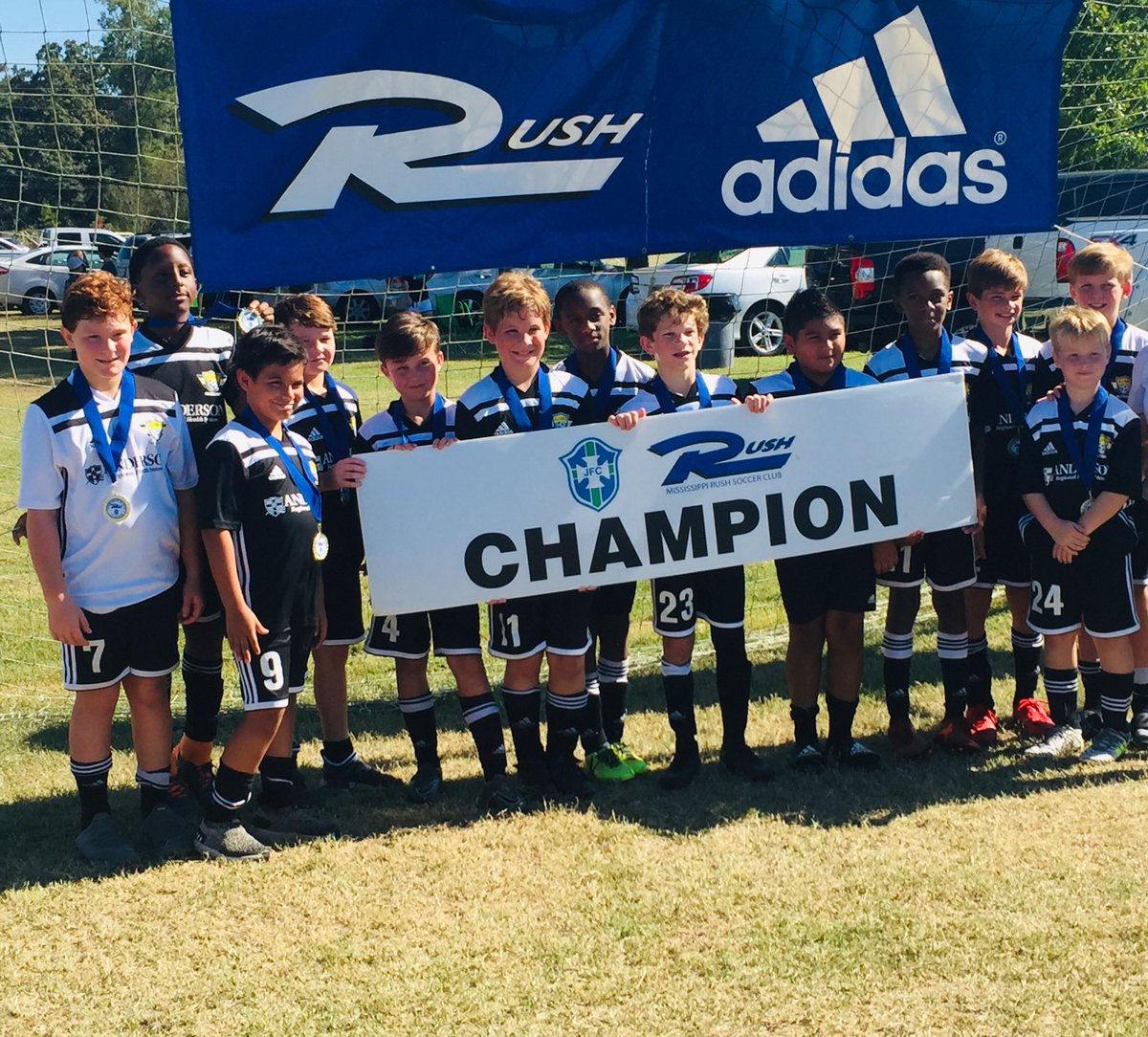 07 boys are champions of Crossroads with a 2-1 win over Rush Jackson, congratulations to coach Leon & team! #champions #GoAFC