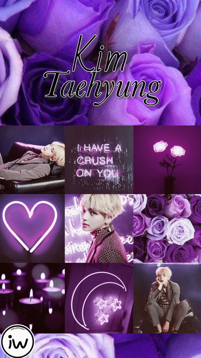 Taehyung Aesthetic Wallpaper Collage Purple Bts Wallpapers Taehyung Caizla