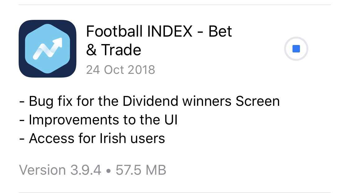 Latest #FootballINDEX update.....good to see 🇮🇪 will now have iOS access, should see lots of new users!