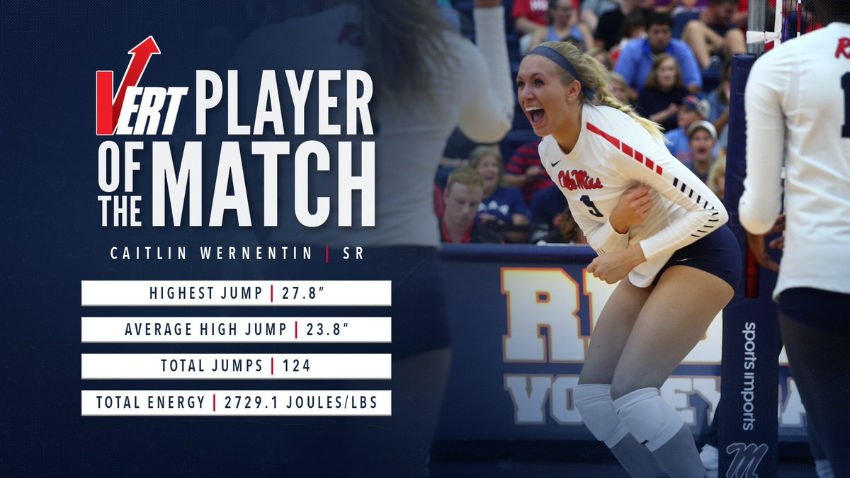Shoutout to @catwern5 our @vert Player of the Match against Alabama 💪 #HottyToddy #Mot1vat1on