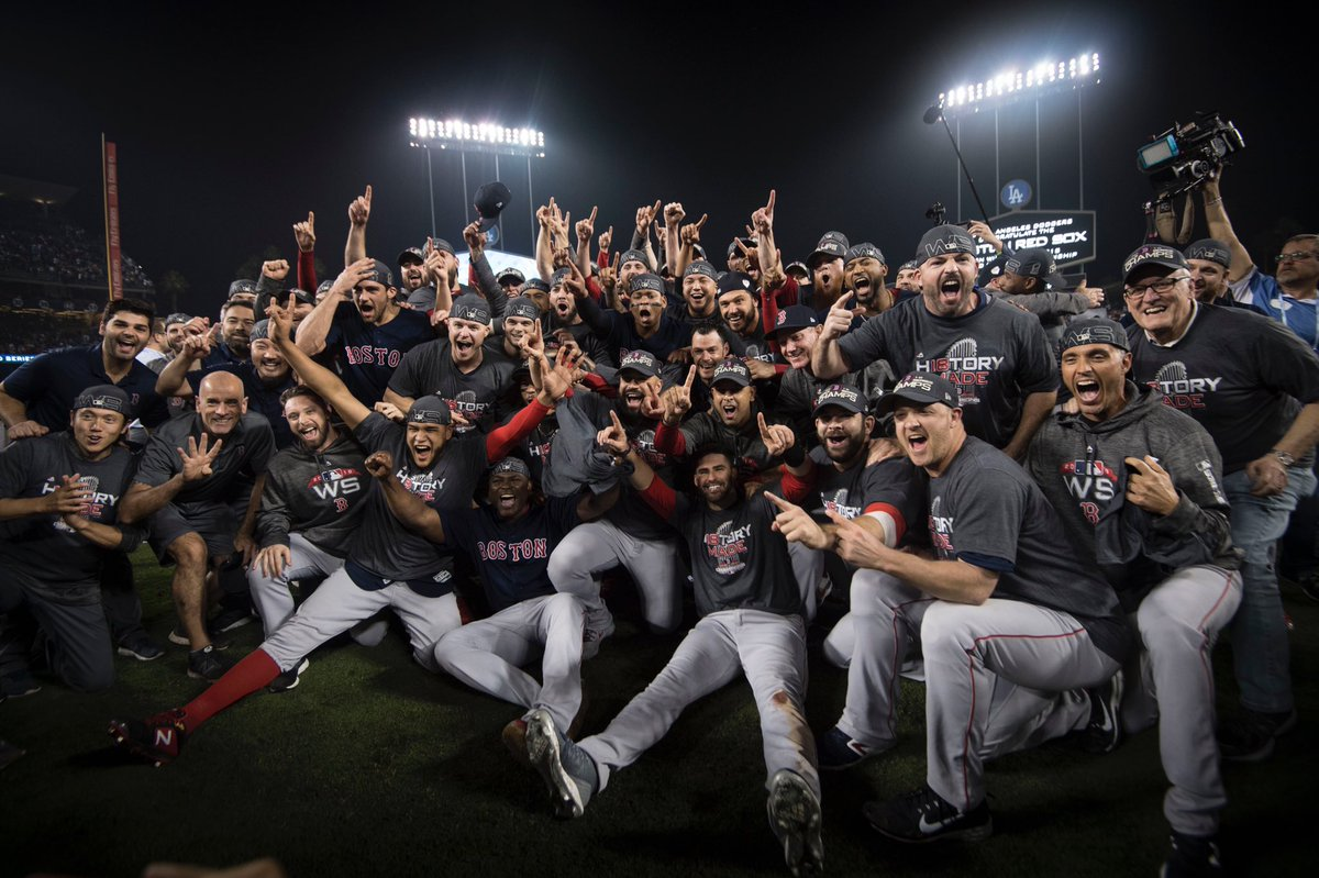 PRESENTING YOUR 2018 #WORLDSERIES CHAMPS!  #DAMAGEDONE 🏆