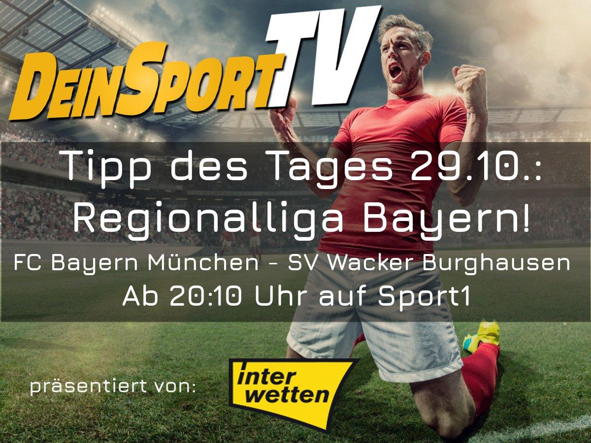 Deinsporttv On Twitter Regionalliga Bayern Live Heute