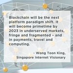 """Image for the Tweet beginning: """"#Blockchain is the new internet,"""""""