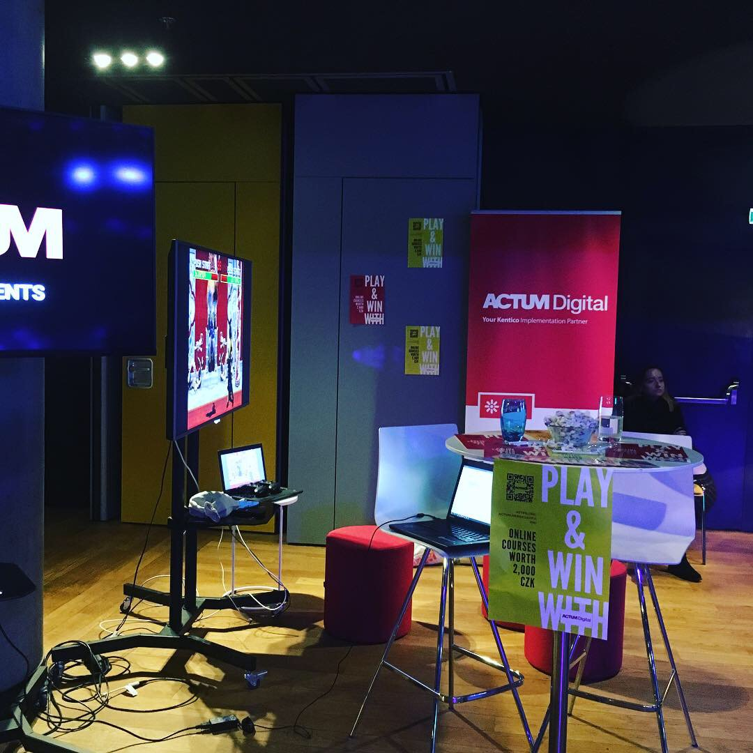 We are at a 3 day, European-wide web & mobile development festival: ReactiveConf! Stop by our stand and win some interesting prizes ;-) https://t.co/StdMIksX4Z