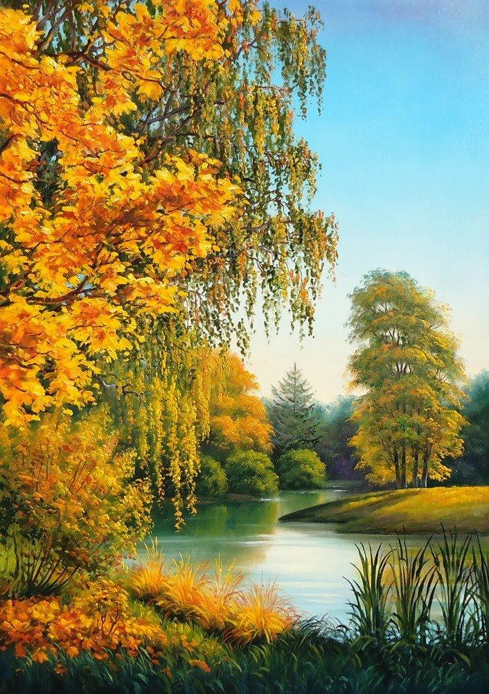 пейзажи в картинках про осень этом фото можно