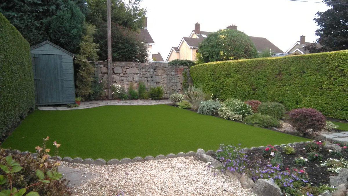 Completed photos of a garden in Ballsbridge with RG Silk 25 mm artificial grass. #garden  #dublin  #ballsbrigde  #d4  #ireland