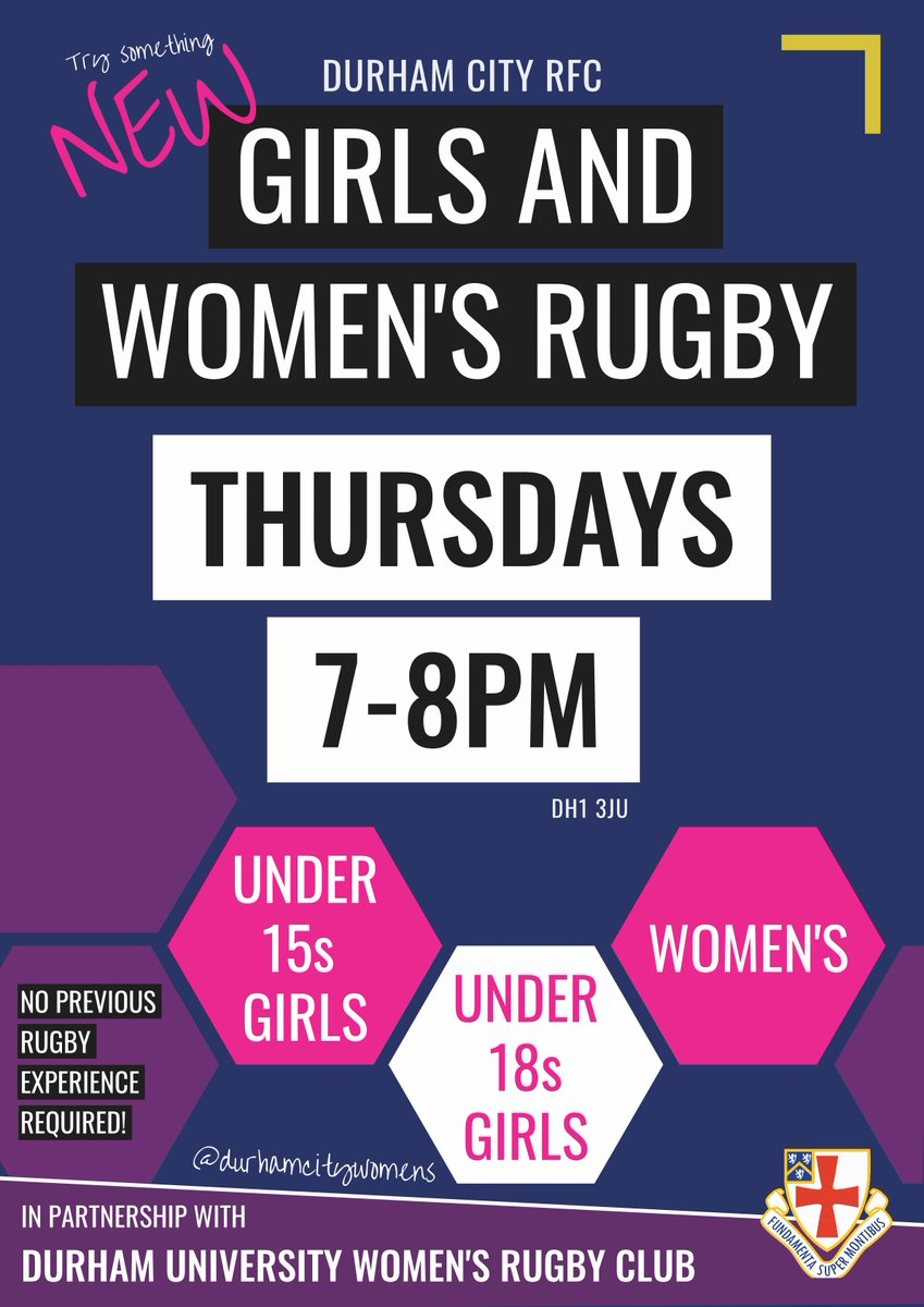 Duwrfc On Twitter Durham City Rfc Are Now Officially Starting Up A