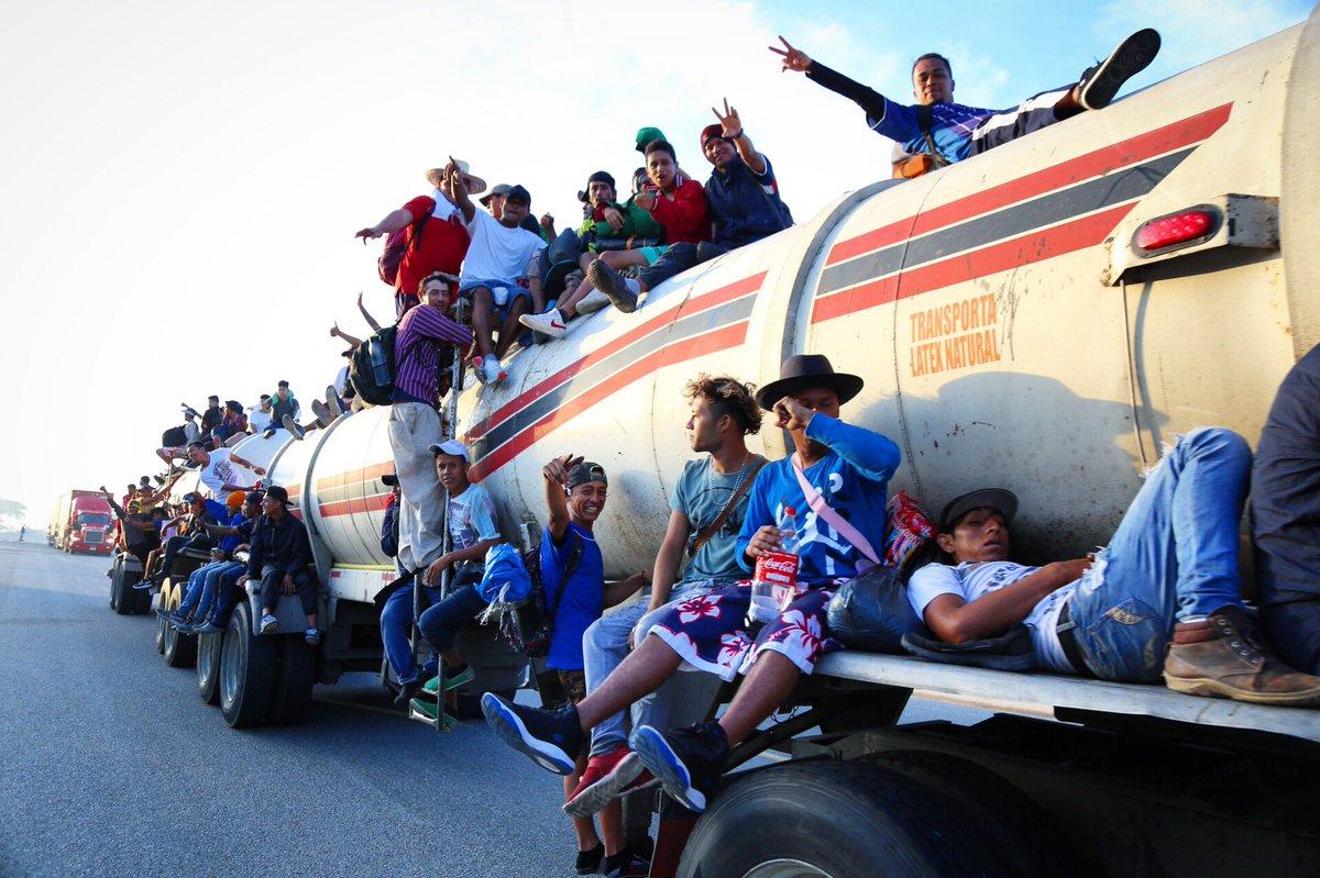 Jacob Rascon On Twitter Migrants Caravan Was Up Before Sunrise