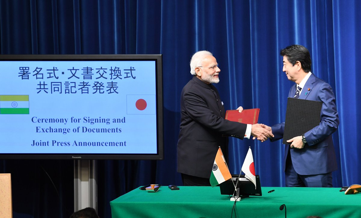 Modi – Abe review with satisfaction the progress made in Mumbai – Ahmedabad bullet train project