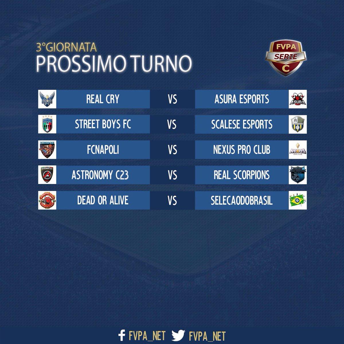 Fvpa Net On Twitter Le Partite Di Stasera Del Campionato Ps4 Di Fvpa 29 10 2018 3 Giornata Serie A B C1 C2 22 15