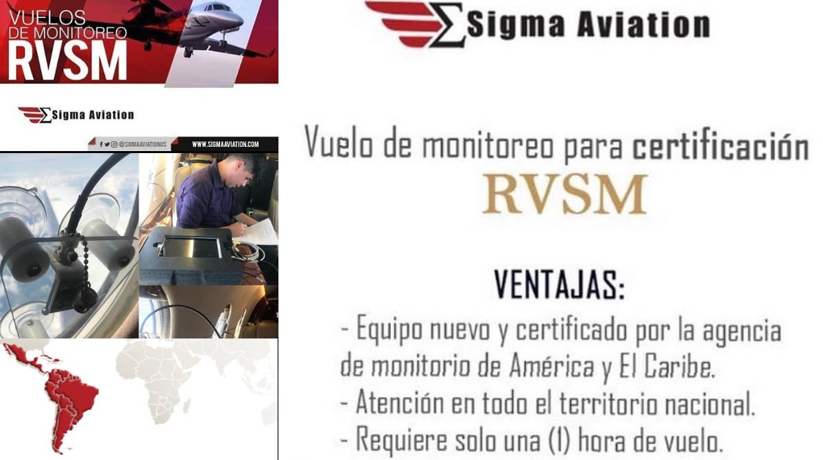 Our #RVSMMonitoring Service partner @SigmaAviationUS provides #RVSM services in #USA #Mexico #Argentina #Chile #Colombia #Panama #Guatemala #bizav #bizjet #jato #jatoexecutive  #aviation #pilot #pilotos https://t.co/WZuF9neEHH   https://t.co/JfvTruv7bu