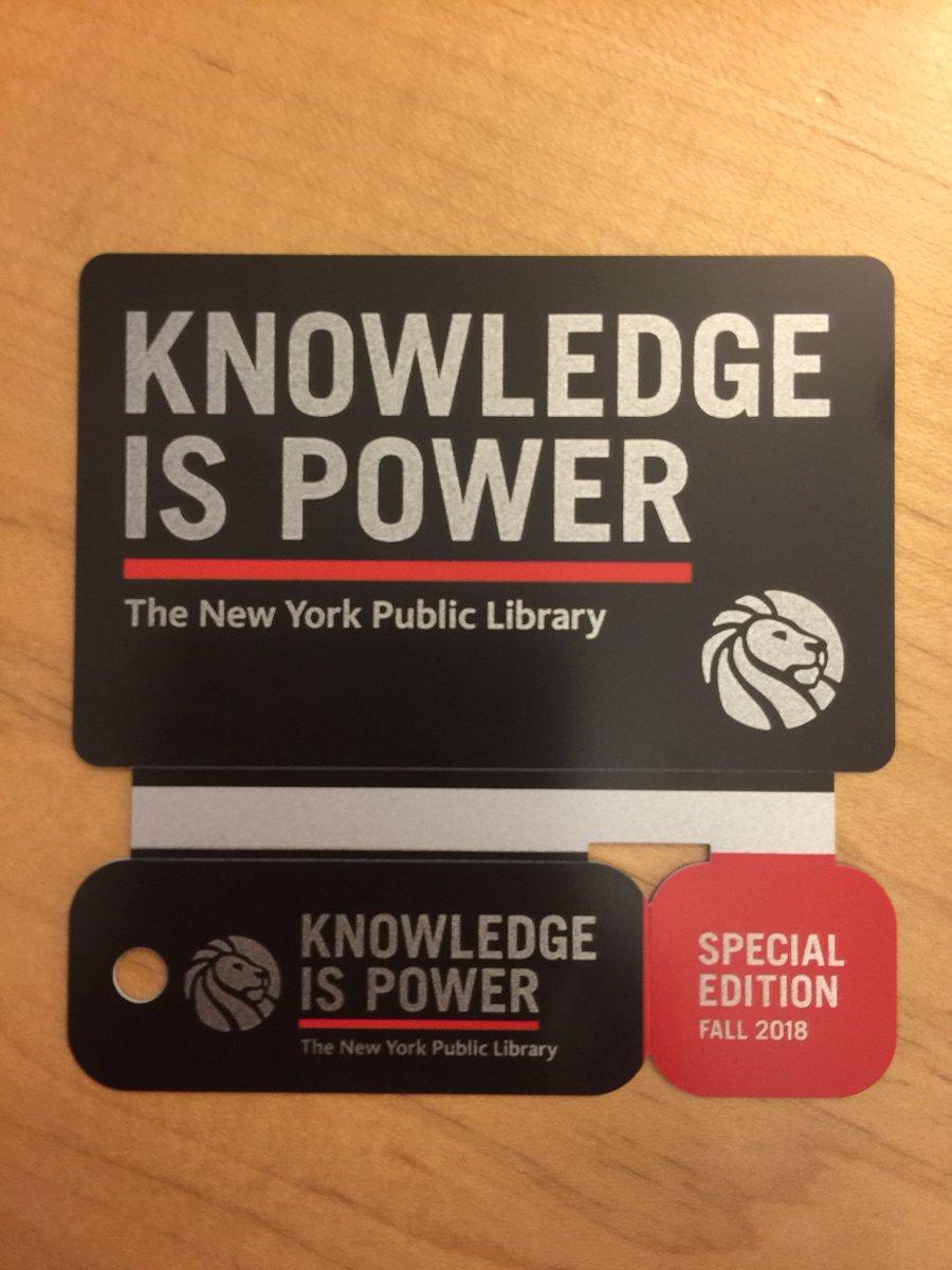 NYPL выпустила ограниченным тиражом читательские билеты «Знание — сила»