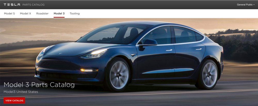 Electrekco On Twitter \tesla Releases Parts Catalog For Model 3 Rhtwitter: Tesla Parts Catalog At Gmaili.net
