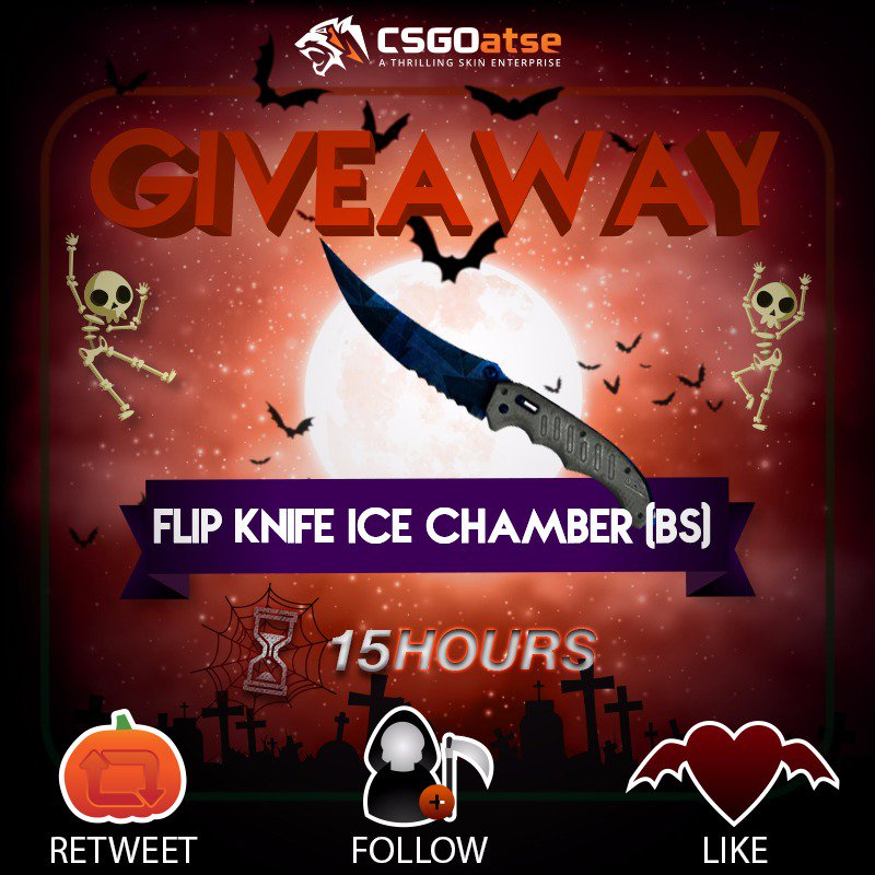 🔥🔥Daily VGO giveaway, Flip knife Ice Chamber🔥🔥   ✅Retweet  ✅Like ✅Follow   Good luck, ends in 15 hours!  You now have a brand new shot at the $30,000 coinhell leaderboard, get points from all the bets you make!   http://csgoatse.com/coinhell