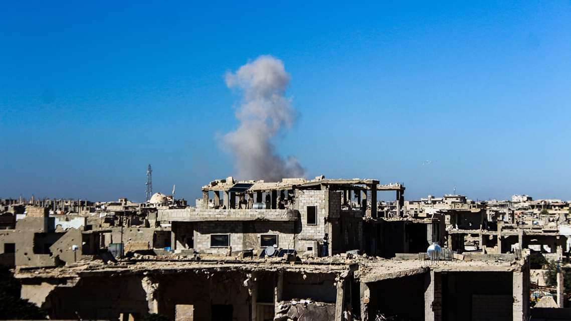 Artillery shelling and missile attacks were carried out by the government forces on residential neighborhoods of Murk city, Northern Hama