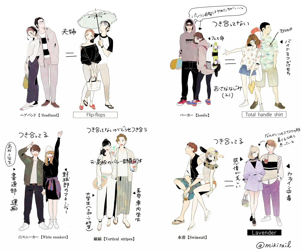 みき尾 On Twitter 私がファッションイラスト風イラスト笑のベール