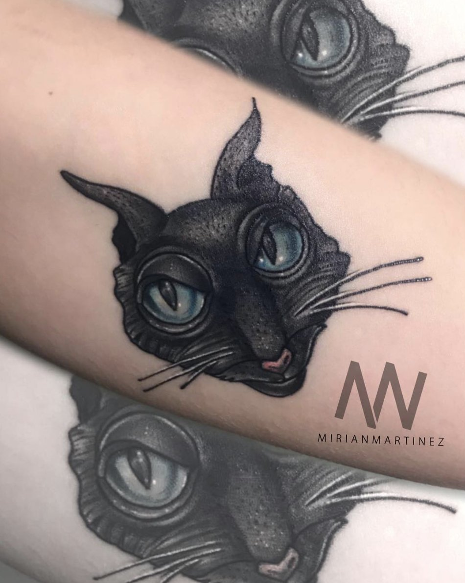 Laika On Twitter I M Not The Other Anything I M Me We Re Beside Ourselves Over Laliebredemarzo S Via Instagram Tattoo Of The Sleek And Mysterious Cat From Coraline Inktober Fanart Halloween Catday Https T Co Pwqe0pr6hm