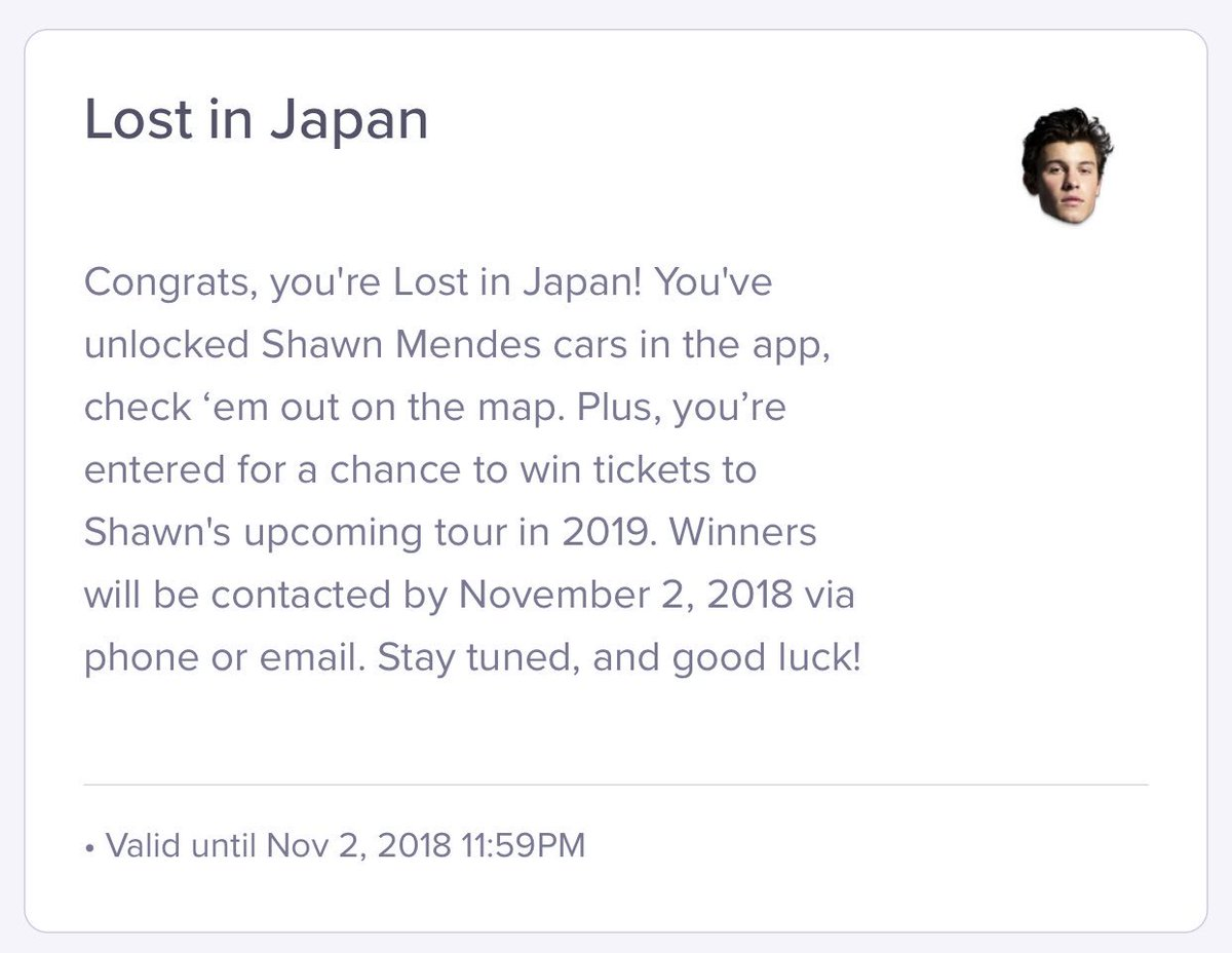 shawn mendes official coupon code