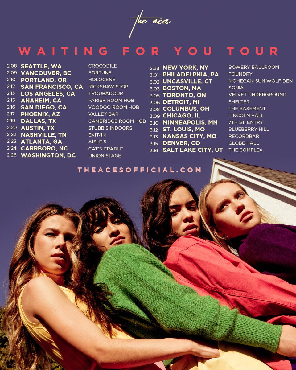 OK FINE WE'LL DROP THE TOUR DATES.  Local pre-sale starts tomorrow, general on sale Friday at 10 AM local time. http://www.theacesofficial.com