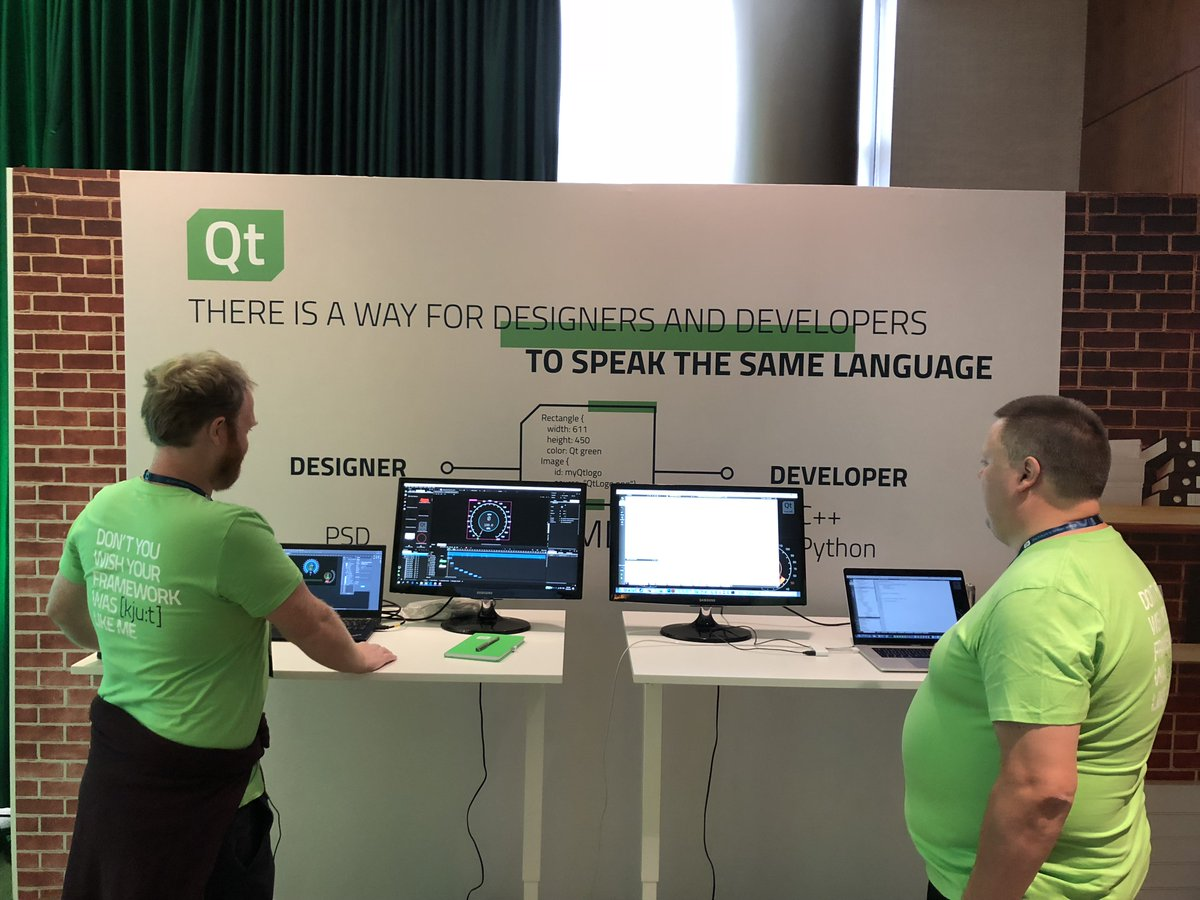 Qt On Twitter See How Designers And Developers Can Speak The Same Language Stop By The Qt Demo Area To Try The New Qt Design Studio Qtws18 Qtdev Https T Co 4gudu9livb