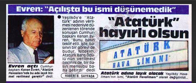 kenan evren Atatürk ile ilgili görsel sonucu