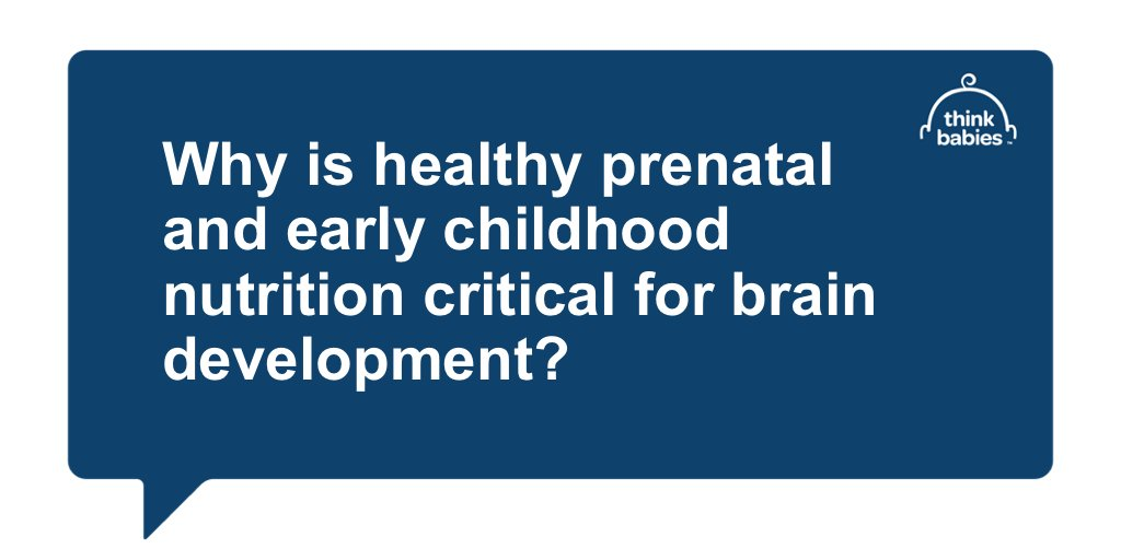 Q2: Healthy nutrition fuels babies' brainpower! #ThinkBabies partners: what does research show about the role of prenatal & #earlynutrition in supporting #braindevelopment? #ThinkBabiesChat https://t.co/Q6W5OHyu0P