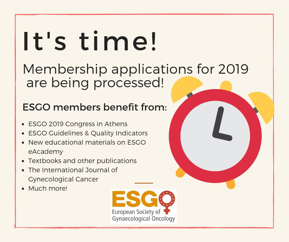 European Society of Gynaecological Oncology on Twitter:
