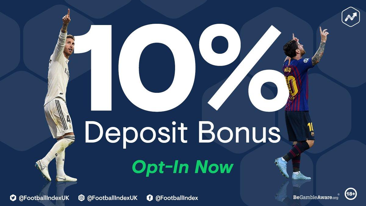Here we go......... 10% Deposit Bonus 🚀 OPT-IN BELOW 👇 trade.footballindex.co.uk/october2018b/ #FootballINDEX #FICommunity