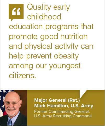 A7: Improved early childhood #nutrition is important for our future national security. Children as young as two are experiencing rising #obesity rates, which increase with age. Nearly one-third of 17-to-24-year olds are too overweight for military service. #ThinkBabiesChat https://t.co/WyDudnp1ZW