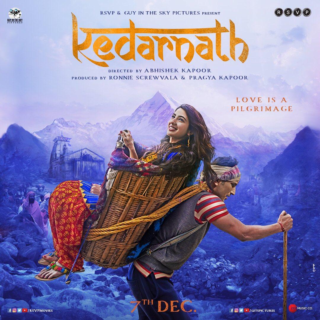 Kedarnath First Look Poster starring Sushant Singh Rajput, Sara Ali Khan