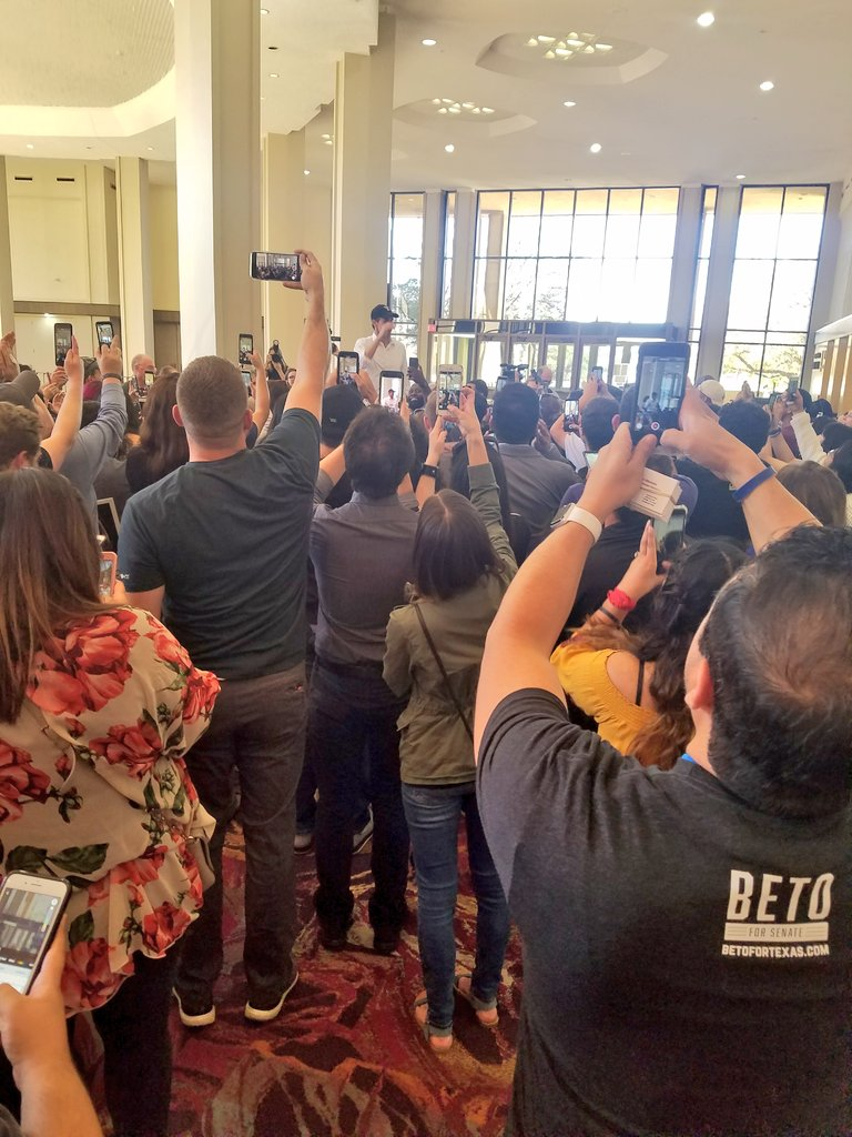 @BetoORourke talking to the overflow crowd at the Lubbock Civic Center #Beto4Texas
