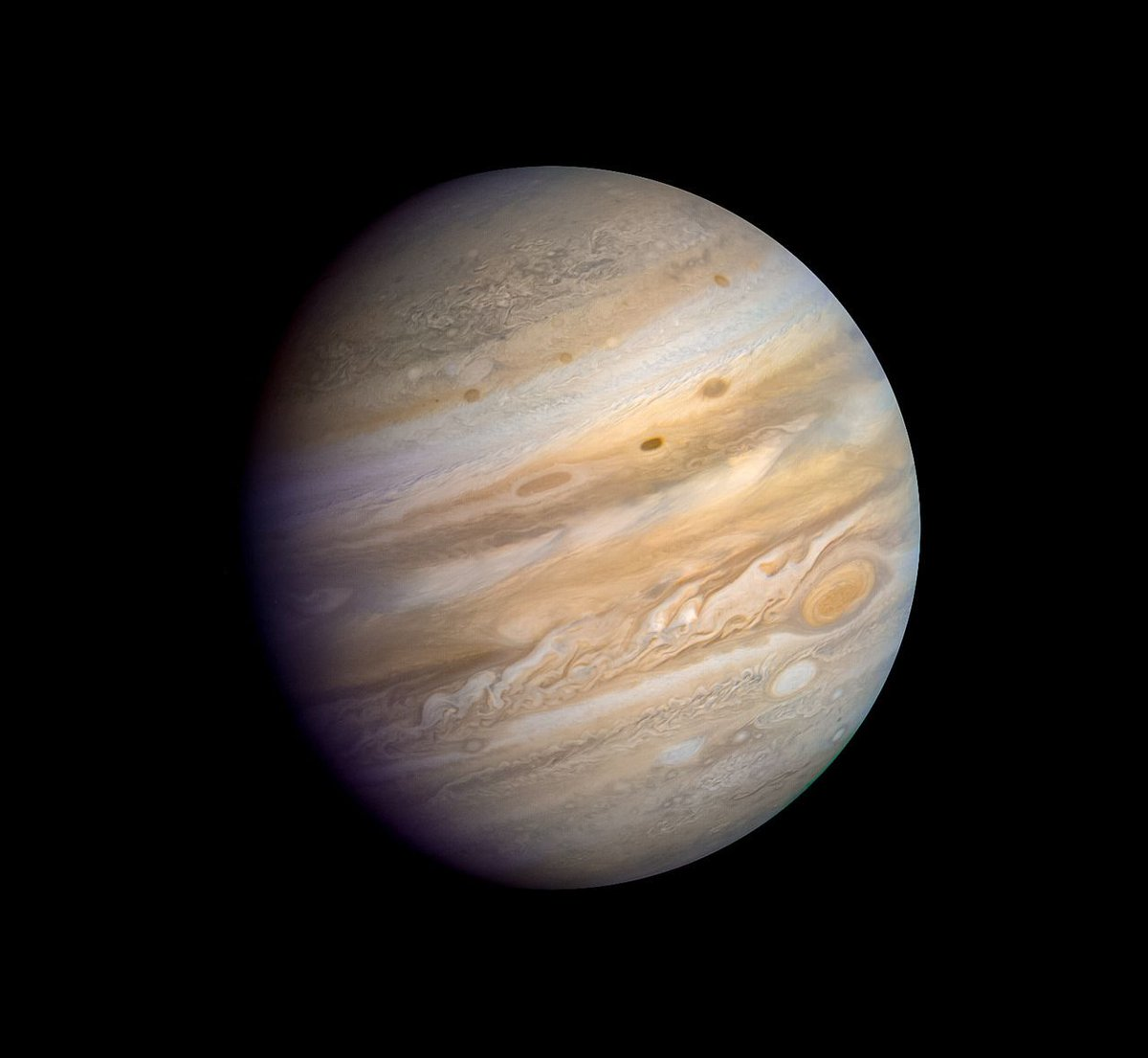 #Space: #Jupiter - June 21 1979, as seen by #Voyager2 https://t.co/IqGnq0FVmp by @kevinmgill