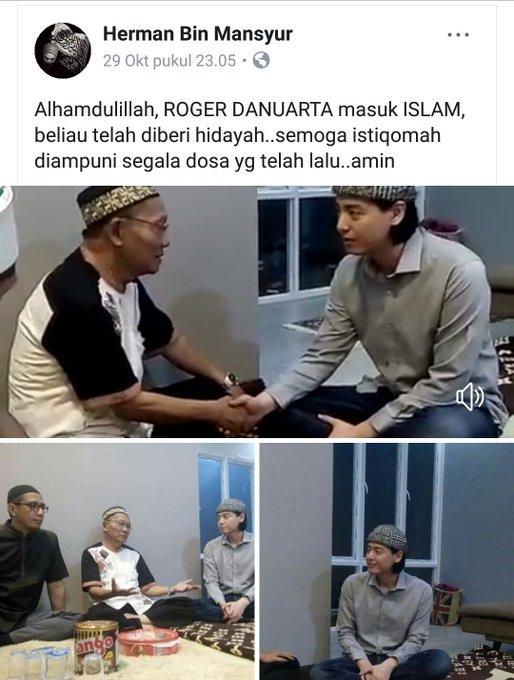 Ini yang Buat Roger Danuarta Mantap Masuk Islam